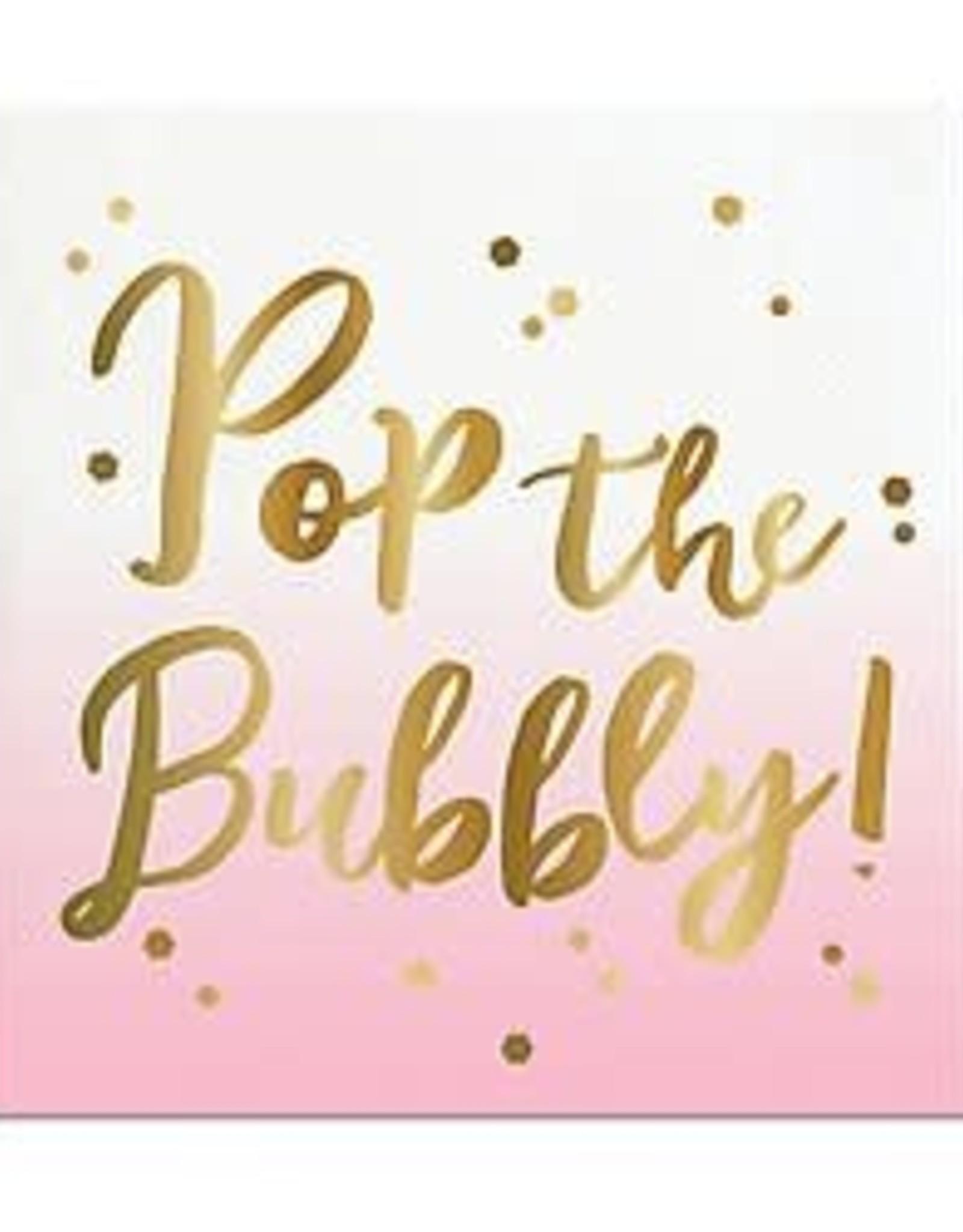 Slant Bev Napkin- Pop the Bubbly