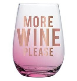 Slant Stemless Wine- More Wine Please