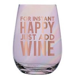 Slant Stemless Wine- Instant Happiness