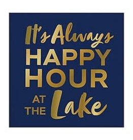 Slant Bev Napkin- Happy Hour Lake