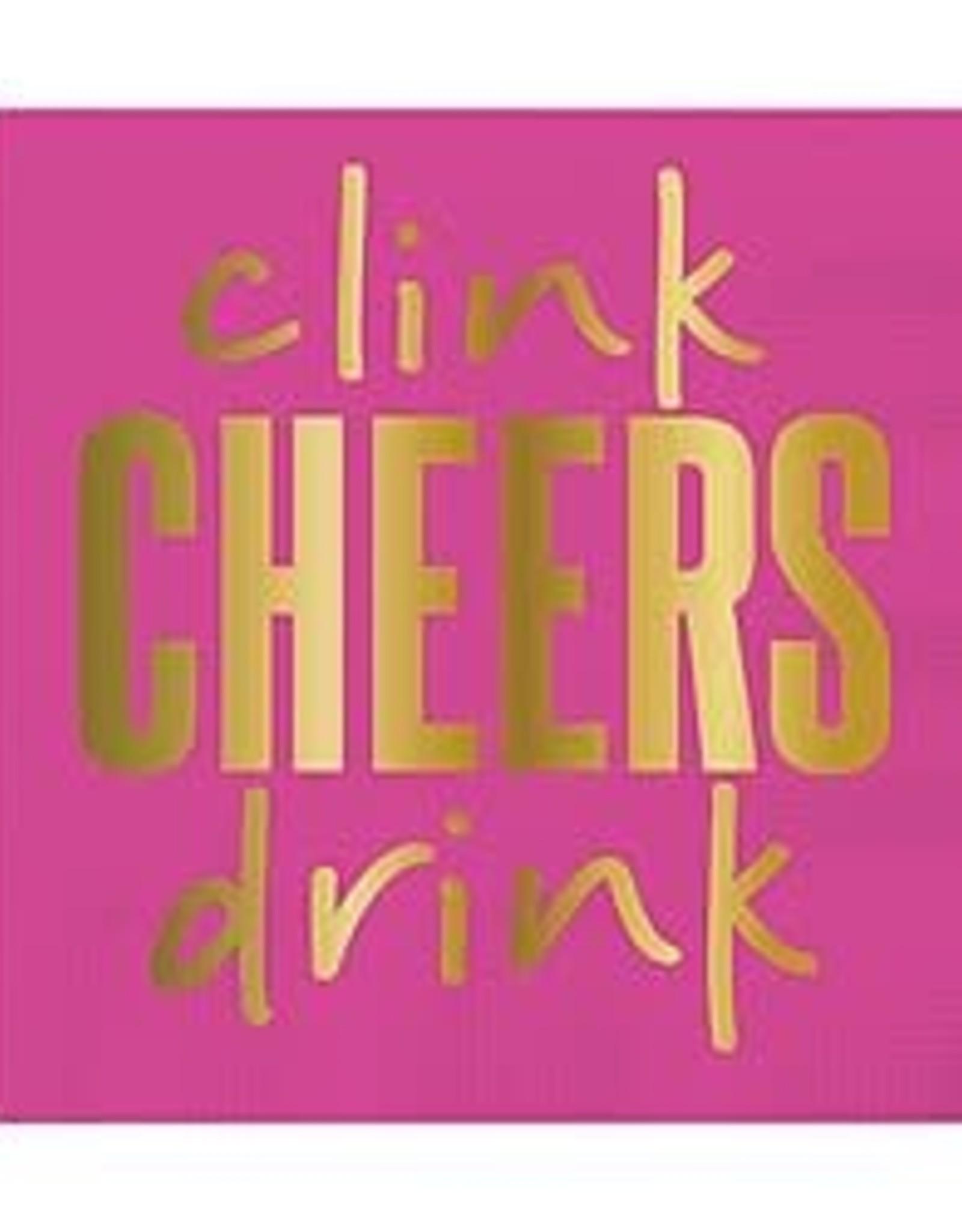 Slant Bev Napkin- Clink Cheers Drink