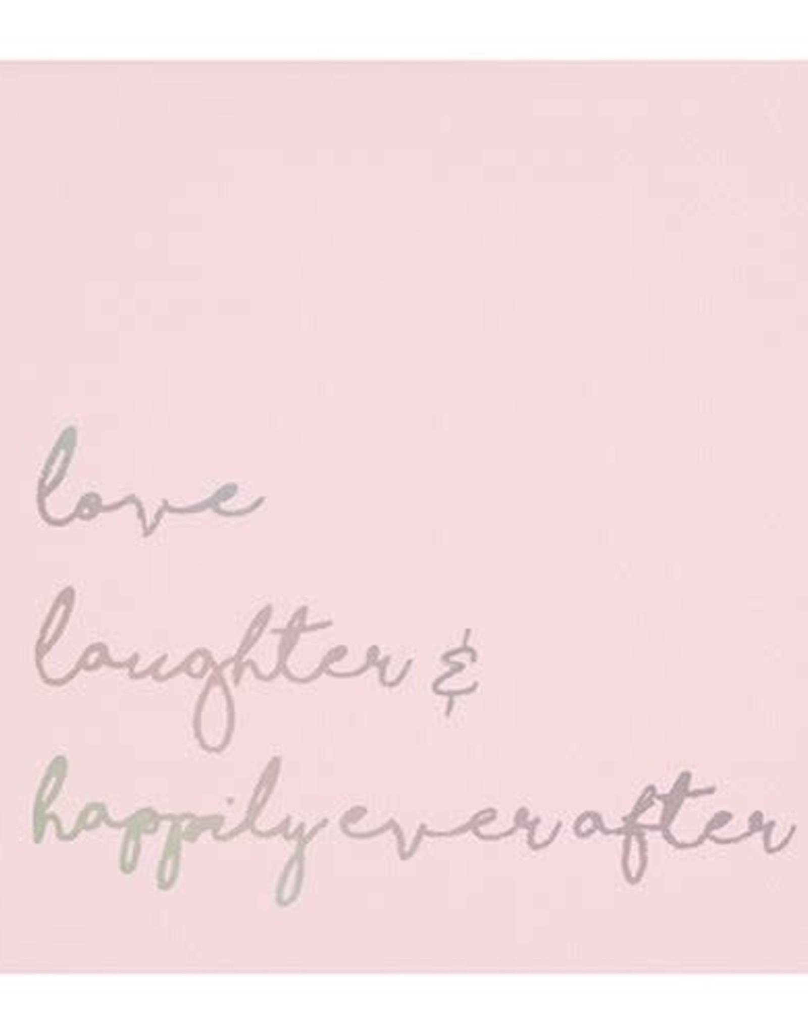 Slant Bev Napkin- Love, Laughter