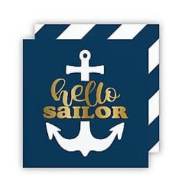 Slant Bev Napkin- Hello Sailor