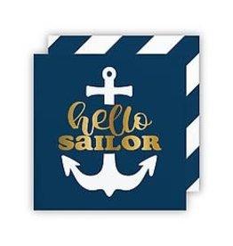 Cocktail Napkin- Hello Sailor