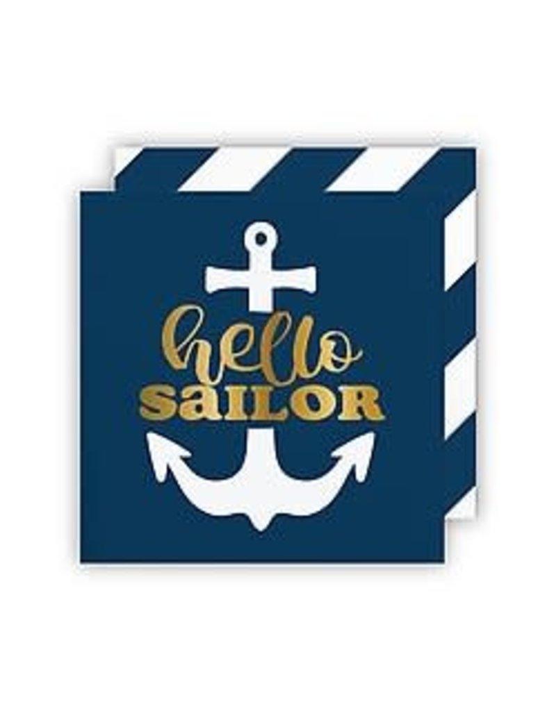 Slant Bev Napkin- Hello Sailor