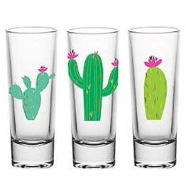 Slant Shot Glass Set Cactus