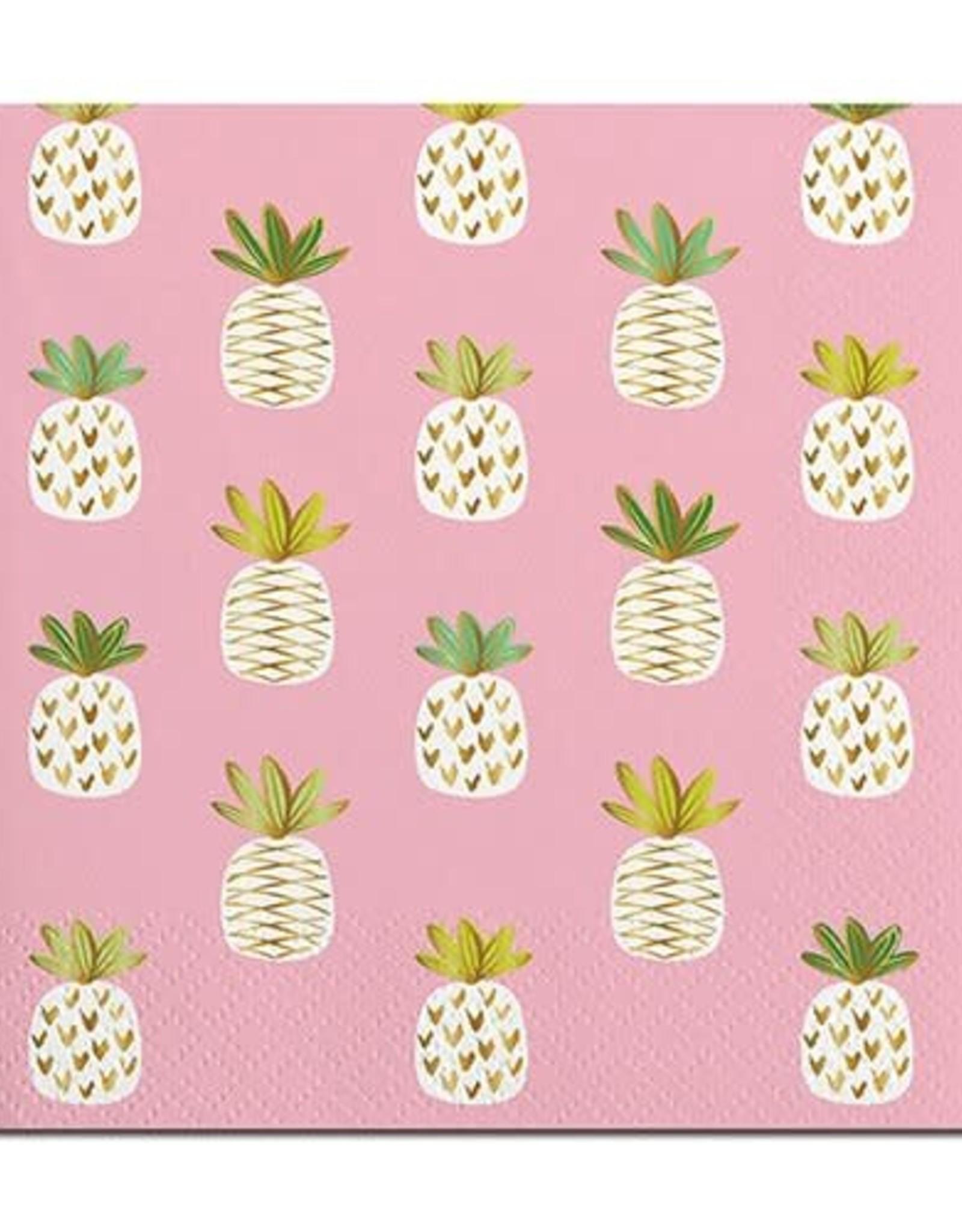 Slant Bev Napkin- Pineapples