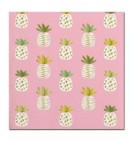 Slant Bev Napkin- Pineapples