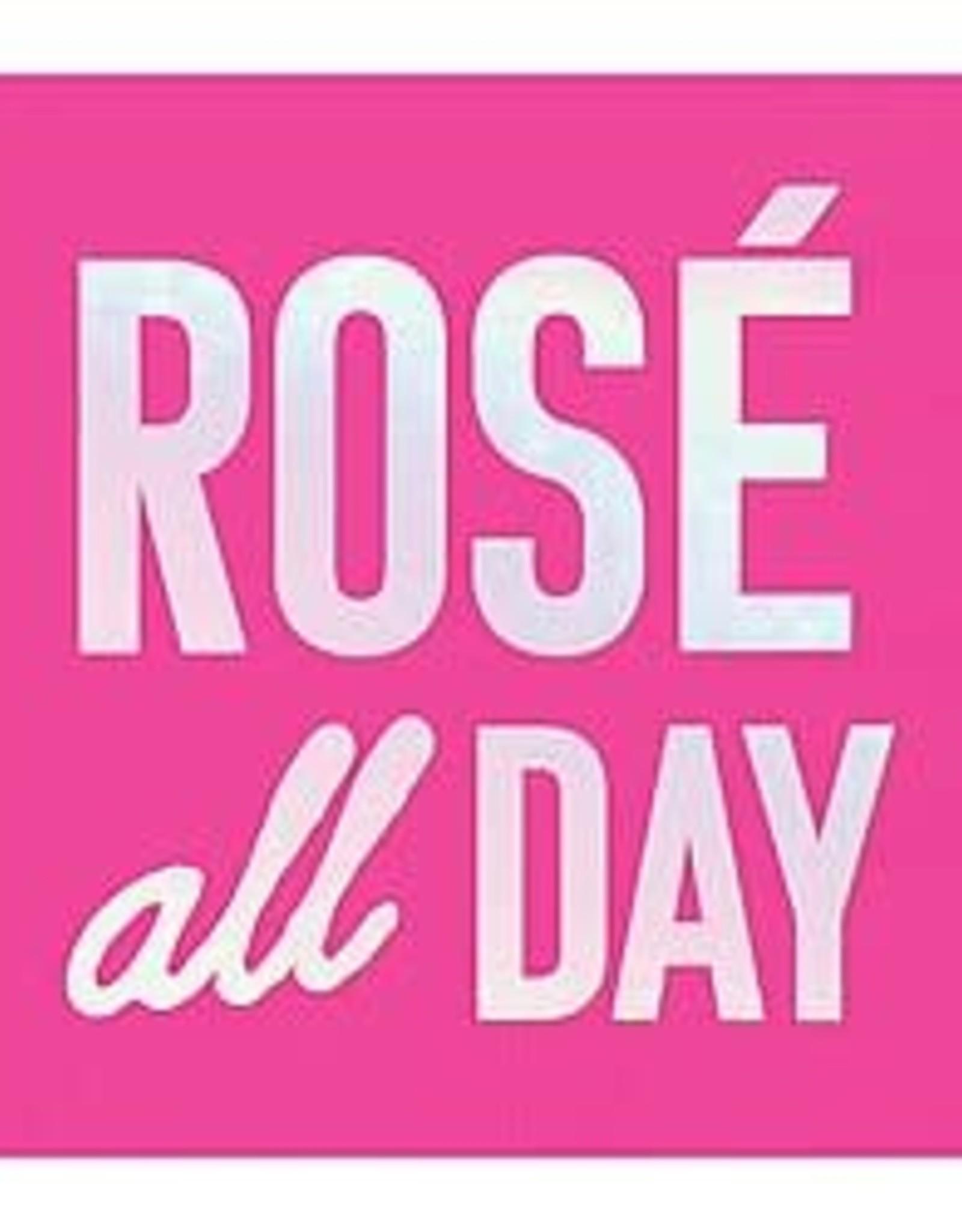 Slant Bev Napkin- Rose All Day Bright Pink