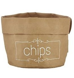 Santa Barbara Large Holder Chips Natural with White