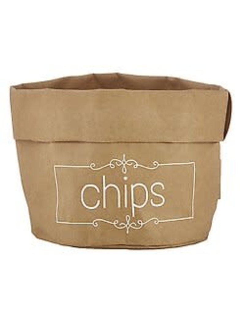 Large Holder Chips Natural with White