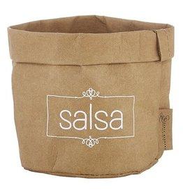 Santa Barbara Small Salsa Holder Natural with White