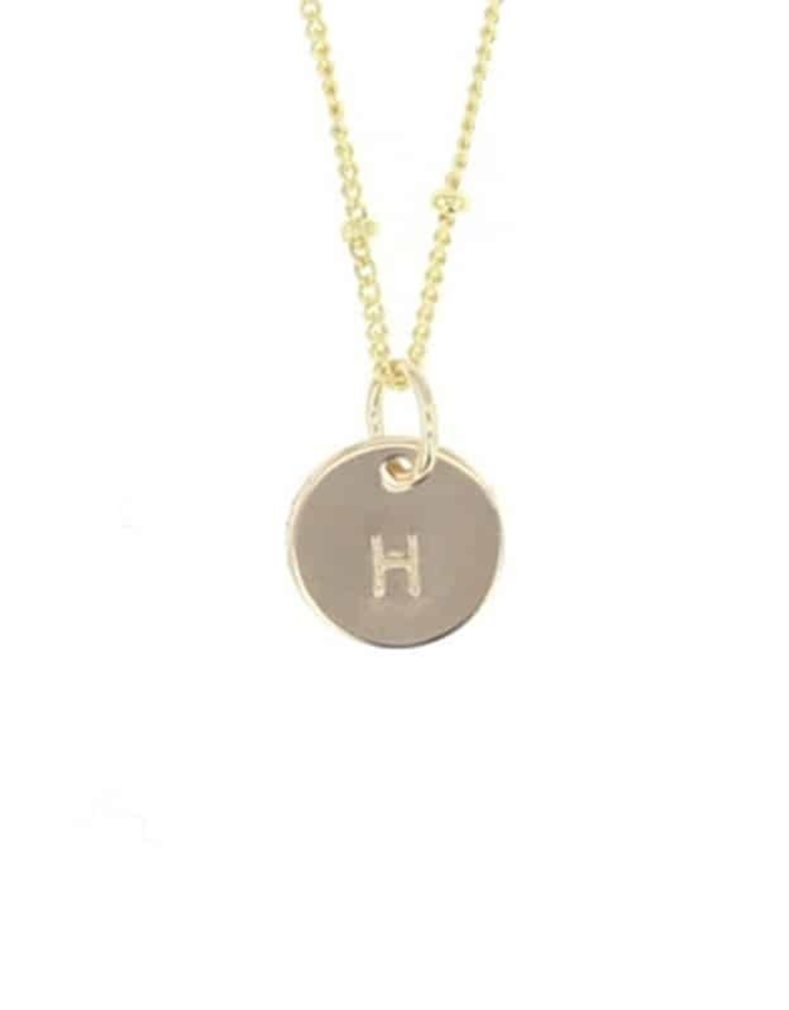 Lotus Jewelry Initial Letter Necklace GOLD
