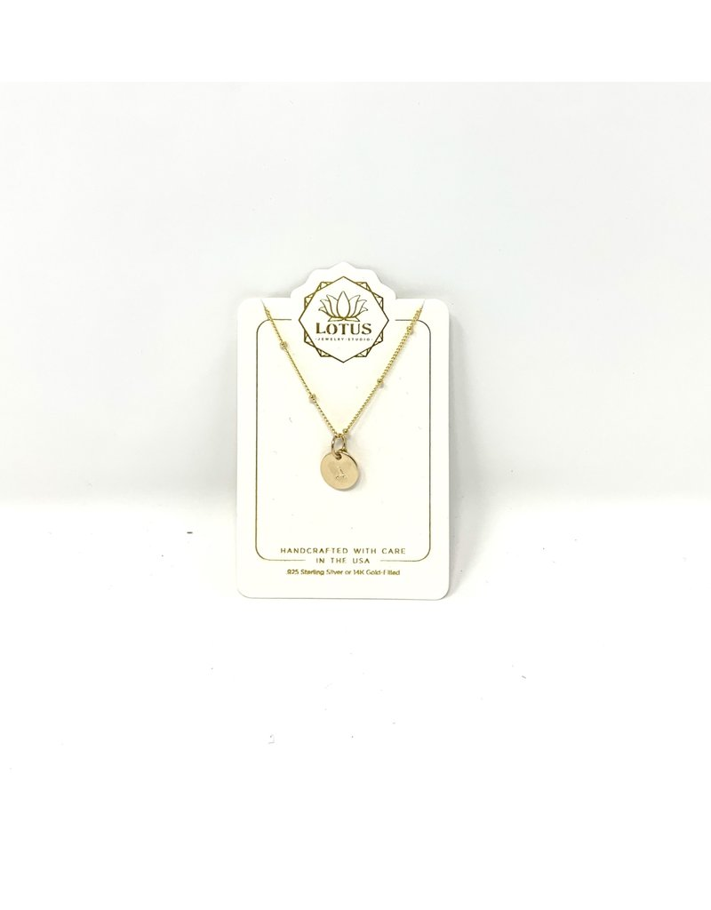 Initial Letter Necklace GOLD
