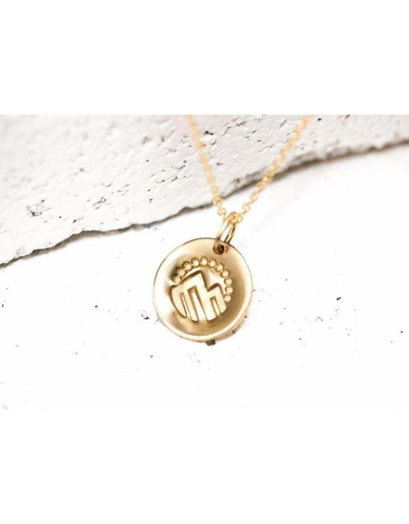 Pieces of Me Necklace Adventurous Gold