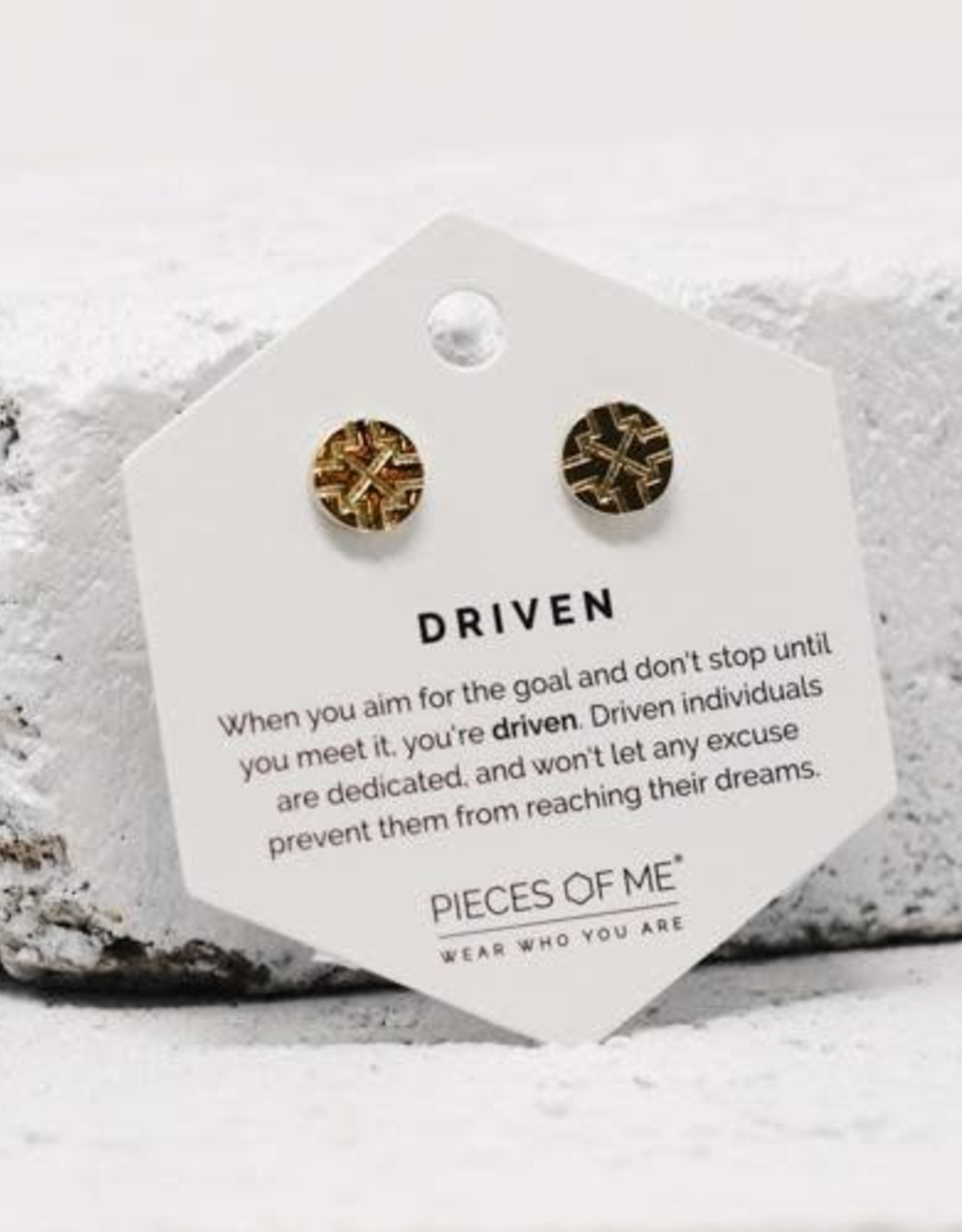 Pieces of Me Earrings -Driven Gold