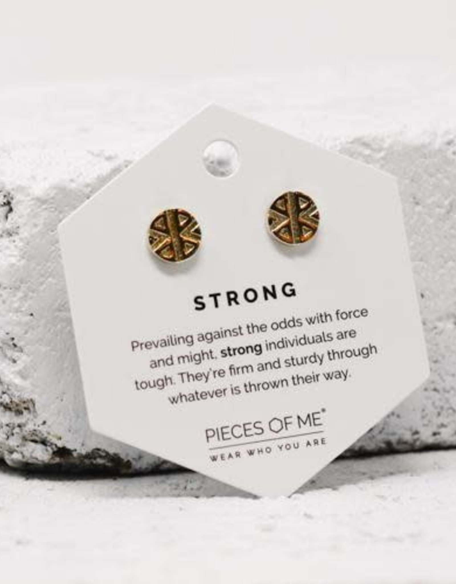 Pieces of Me Earrings - Gold Strong