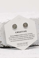 Pieces of Me Earrings - Silver Creative