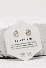 Pieces of Me Earrings - Silver Determined