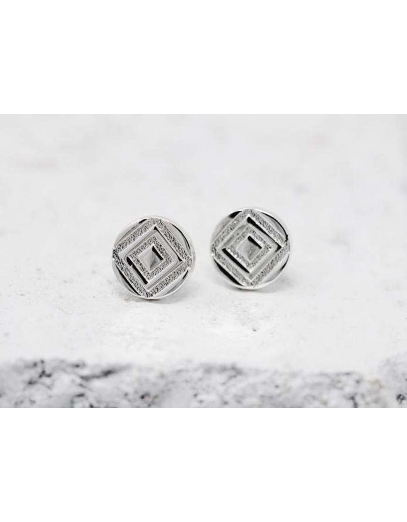 Pieces of Me Earrings -Determined Silver