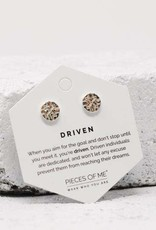 Pieces of Me Earrings -Driven Silver