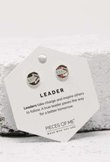 Pieces of Me Earrings - Silver Leader