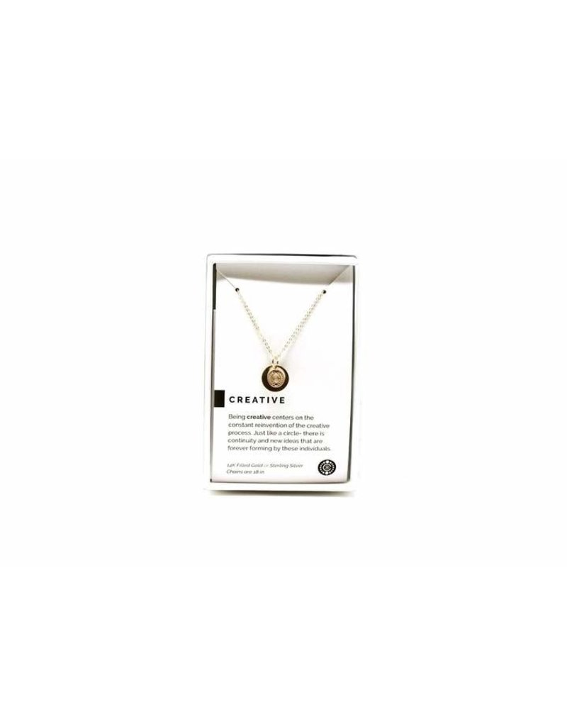 Pieces of Me Necklace Creative Gold