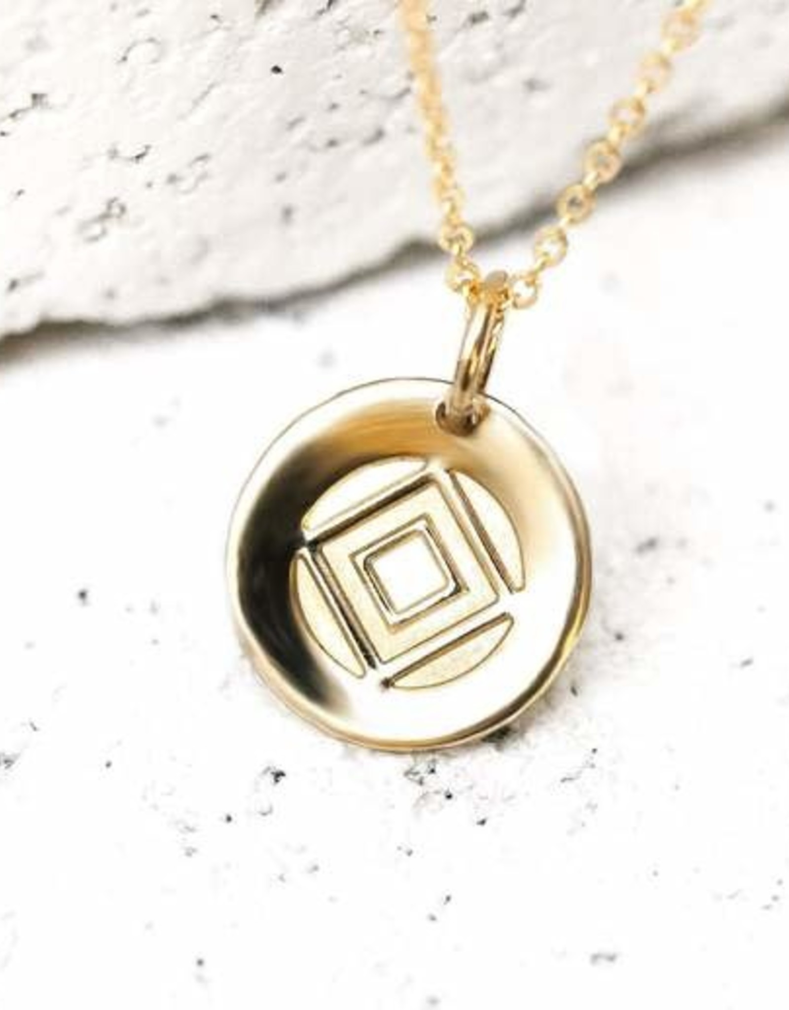 Pieces of Me Necklace Determined Gold