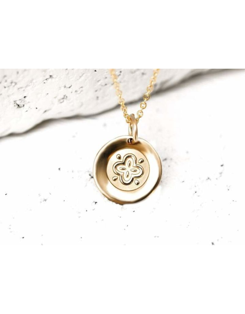 Pieces of Me Necklace Friendly Gold