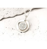 Pieces of Me Necklace Friendly Silver