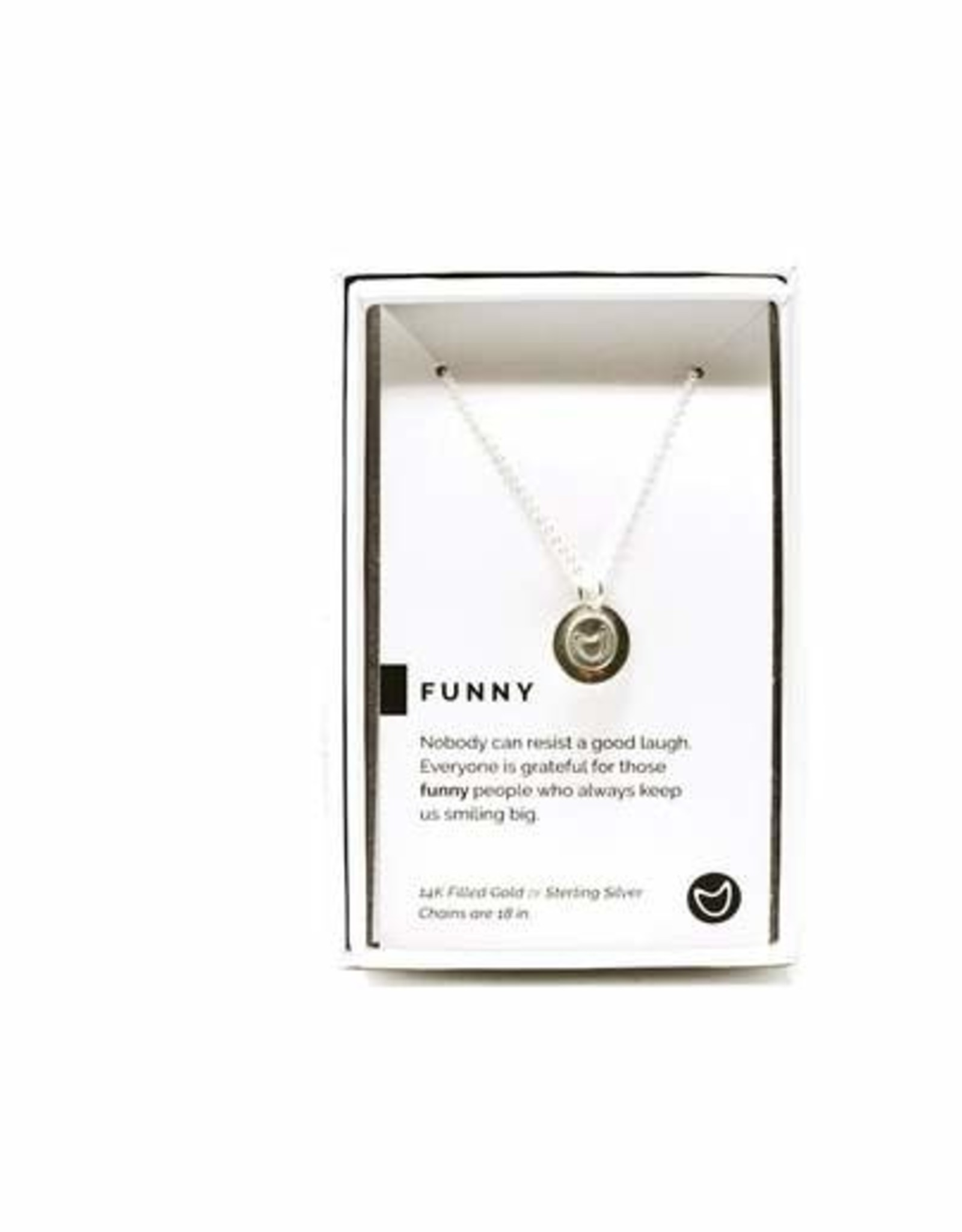 Pieces of Me Necklace Funny Silver