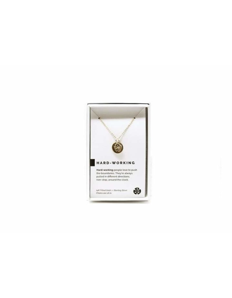 Pieces of Me Necklace Hardworking Gold
