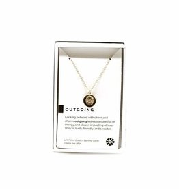 Pieces of Me Necklace Outgoing Gold