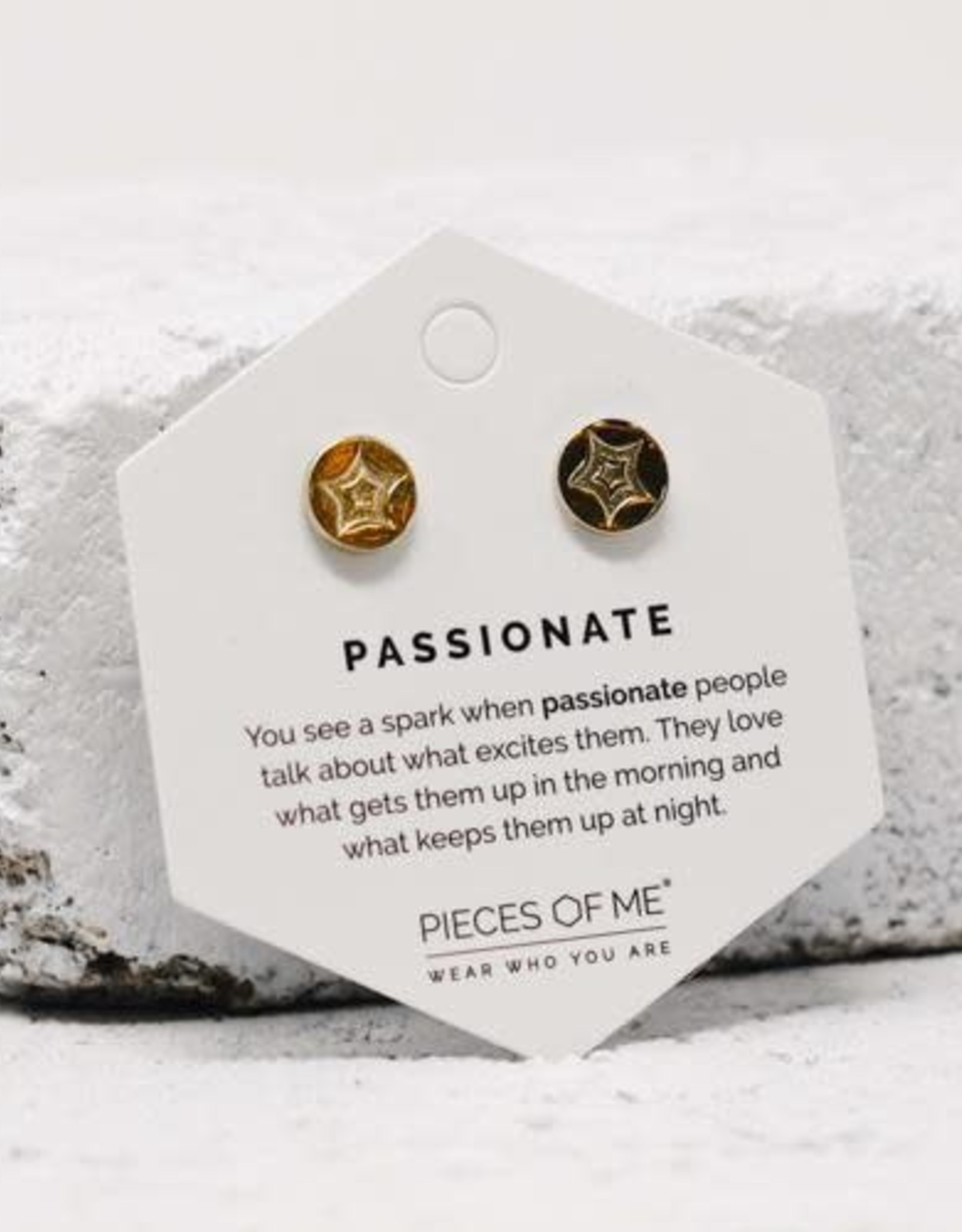 Pieces of Me Earrings - Gold Passionate