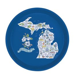 City Bird Michigan Map Serving Tray