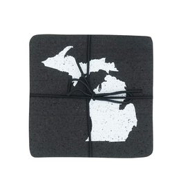 City Bird Michigan Recyclyed Tire Coasters