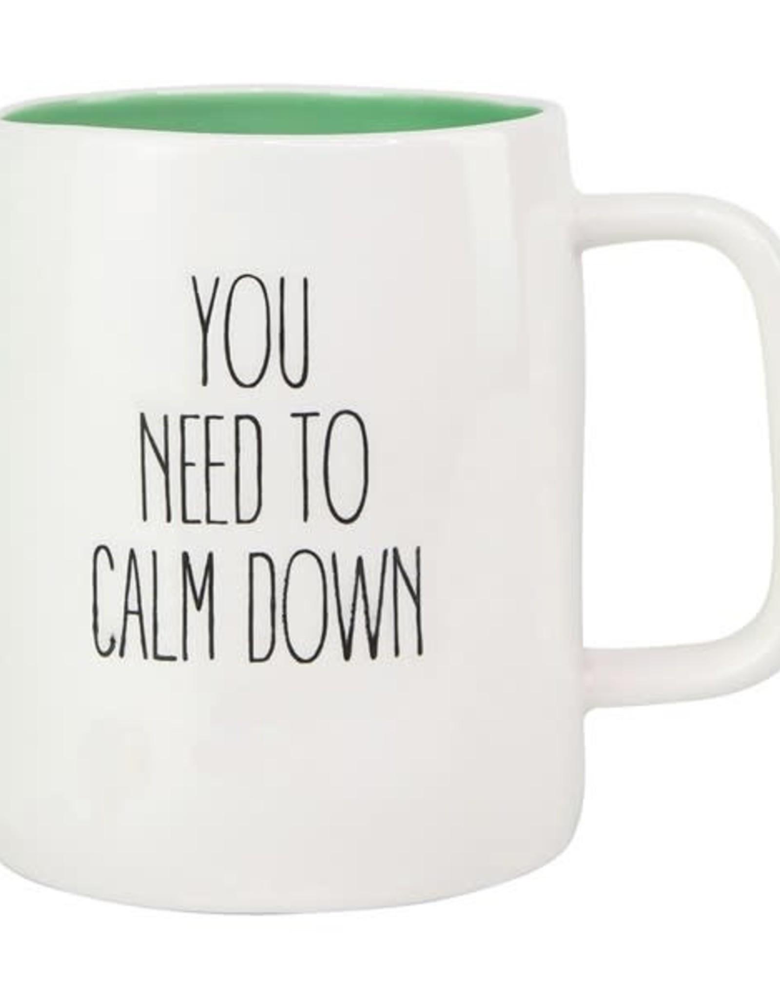 Mary Square Mug Calm Down