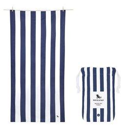 Dock & Bay Quick Dry Towel Cabana Large Blue Navy