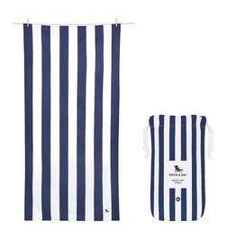 Quick Dry Towel XLG Striped Navy