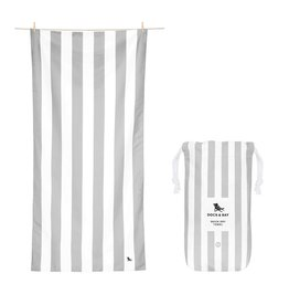 Quick Dry Towel XLG Striped Light Grey