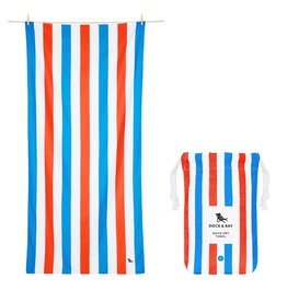 Dock & Bay Quick Dry Towel Summer Large Blue Red