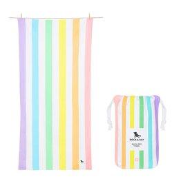Quick Dry Towel Large Light Rainbow