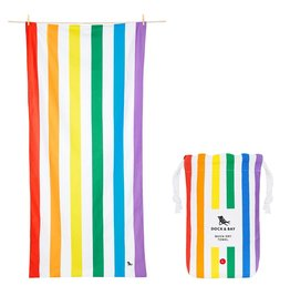 Dock & Bay Quick Dry Towel Summer Large Rainbow