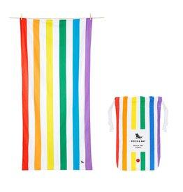 Quick Dry Towel Large Bright Rainbow