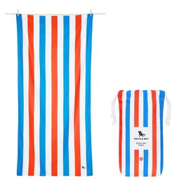 Dock & Bay Quick Dry Towel Summer XLG Blue Red