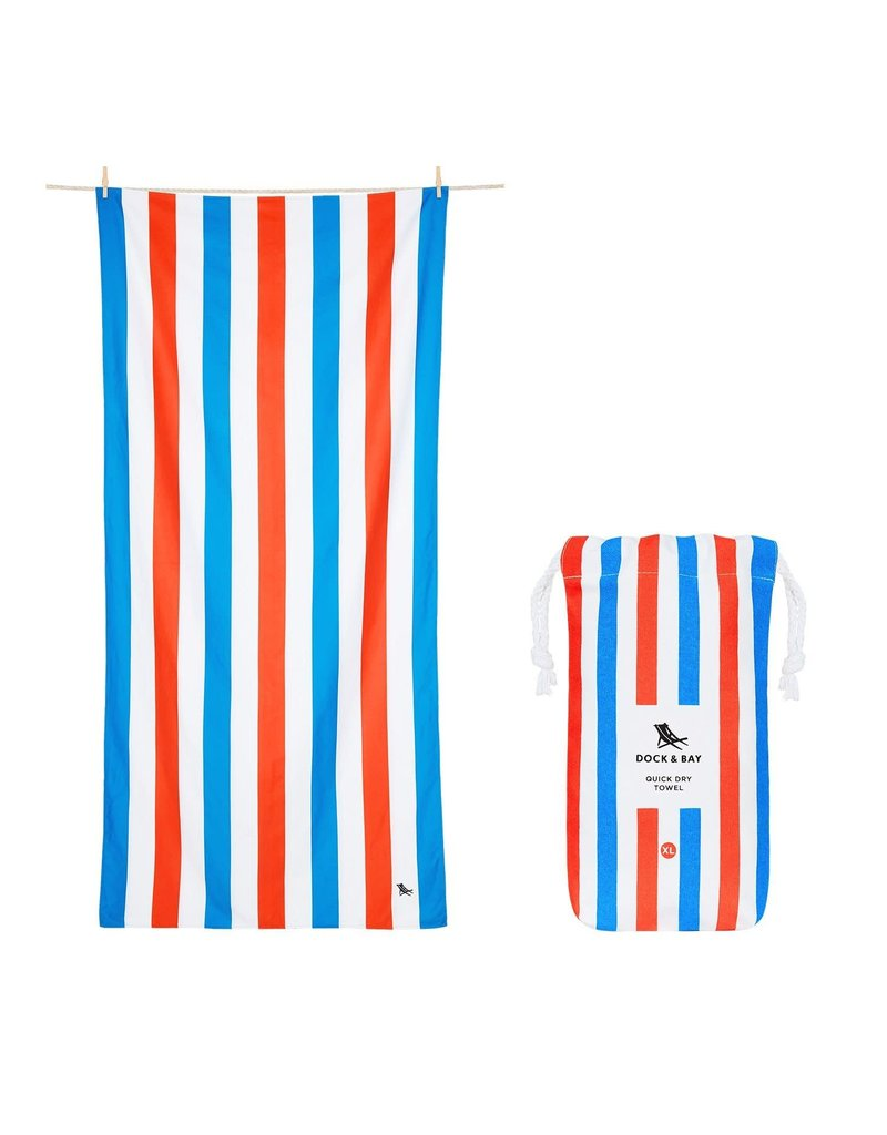 Quick Dry Towel XLG Blue Red