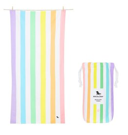 Dock & Bay Quick Dry Towel Summer XLG Light Rainbow