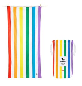 Dock & Bay Quick Dry Towel Summer XLG Rainbow