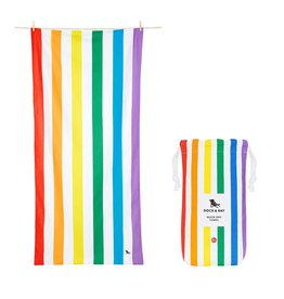 Quick Dry Towel XLG Bright Rainbow