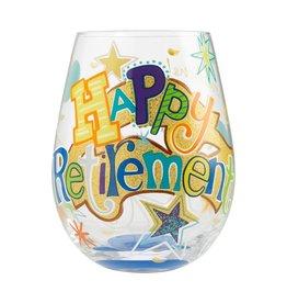 Lolita (Enesco) Stemless Wine Glass Happy Retirement